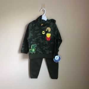 New• Nannette• Toodler Boy Hoodie and Pants• 2T